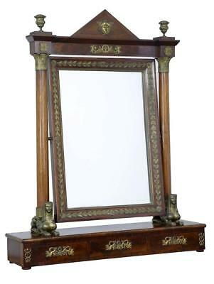 19Th Century French Empire Mahogany Large Dressing Mirror