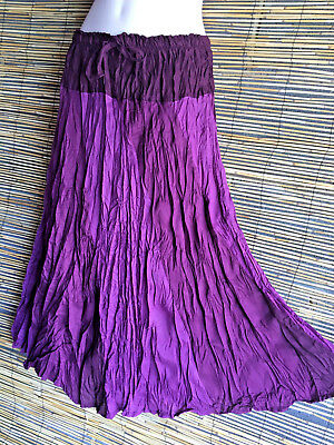 Lot of 5 rayon 72cm. Lengt skirts.5 colours.Fits many sizes.Wholesale.Top Seller