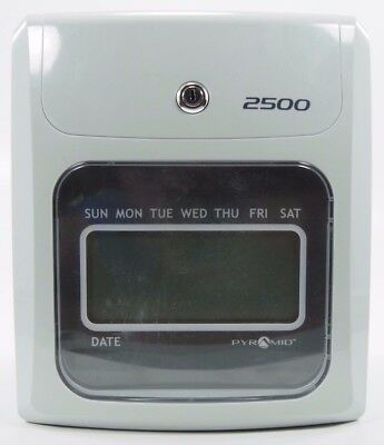 Pyramid 2500 Time Clock, includes time cards and card rack
