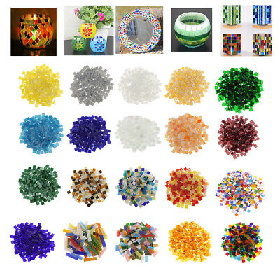 Lot Multicolor Glass Pieces Mosaic Tiles Tessera for DIY Craft Home Decoration
