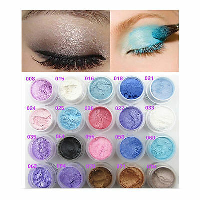 2Pc Colorful Glitter Pigment Mineral Shimmer Highlighter Eyeshadow Powder Makeup