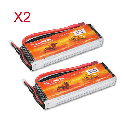 2x Floureon 3S 11.1V 3000mAh 30C LiPo Battery Pack for RC Evader Truck Airplane