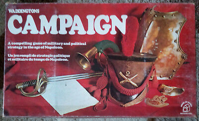 Vintage 1974 Waddingtons Murfett Campaign Strategy Board Game - Complete