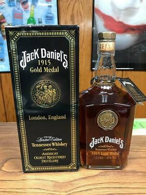 Rare Jack Daniels Liter Gold Medal 1915 With Box -No Green Belle Rye Red Dog
