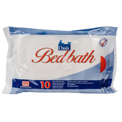 Oasis Bed Bath Wipes Lightly Scented - Pack of 10 - Choose Quantities