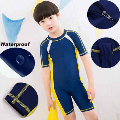 One Piece Kids Wet Suits Boys Girls Surfing Swimming Diving Suits Clothing SG