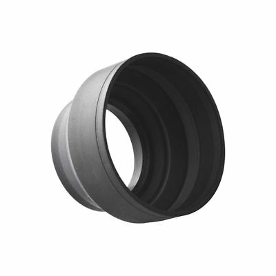 52mm 3-Stage Collapsible 3in1 Rubber Lens Hood for Nikon Pentax DSLR Camera I1G7