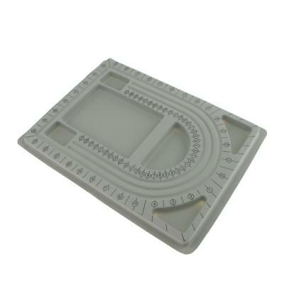Bead Stringing Board Gray Flocked Trays Design in Beading Board 33 x 24 cm