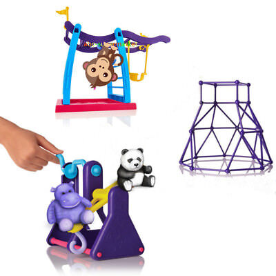 For Fingerlings Monkey Jungle Gym Playset Interactive Baby Monkey Climbing Stand