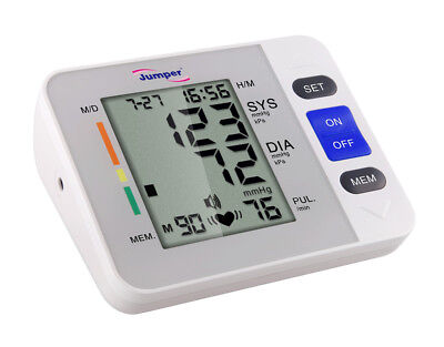 Blood Pressure Monitor Upper Arm Cuffs Diastolic Systolic Meter Pulse Rate Gauge