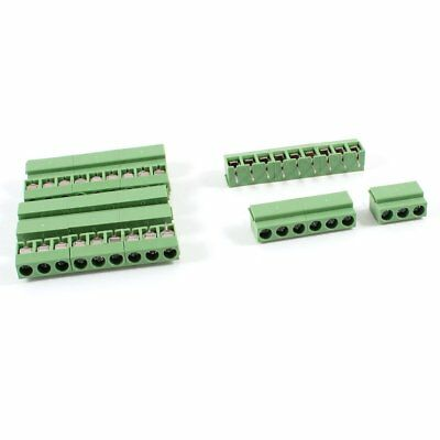 7Pcs 9 Pole 5mm Pitch PCB Mount Screw Terminal Block 8A 250V F6X3