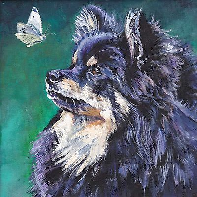 German Spitz dog art portrait canvas Print of painting by lashepard 8x8""