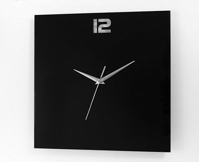 Large Square Modern Home Bedroom Minimalist Kitchen Wall Clock Quartz New