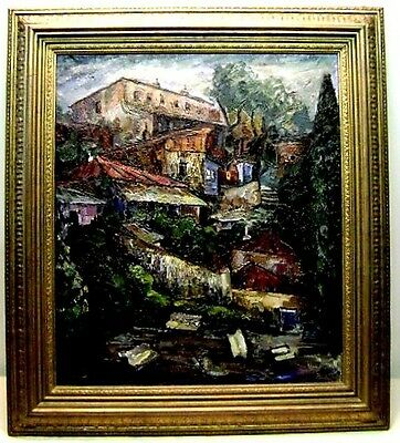 Framed Russian village BY Valeria BARSHTINE
