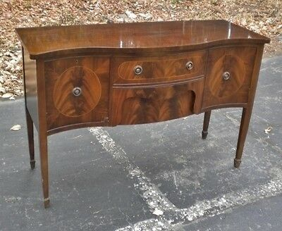 English 1930s Victorian Serpentine Sideboard