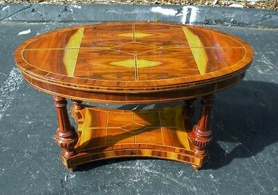 EXQUISITE Oval Art Deco style 2 tier coffee table
