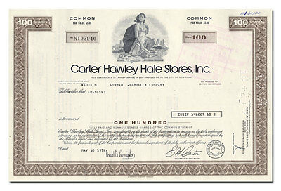 Carter Hawley Hale Stores, Inc. Stock Certificate