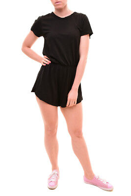Wildfox Women's  Roadtrip Jersey Cruise Romper Black Size S RRP $120 BCF79