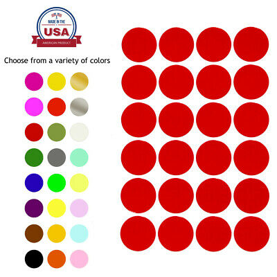 """Dot Stickers Round Colored Coding Circle Adhesive Labels 25mm 1"""" Inch 360 Pack"""
