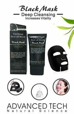 Advanced Charcoal Blackhead Remover Peel Off Facial Cleaning Black Face Mask 50g