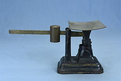 Antique FAIRBANKS POSTAL SCALE CAST IRON BASE BRASS BEAM & PLATFORM OLD #03367