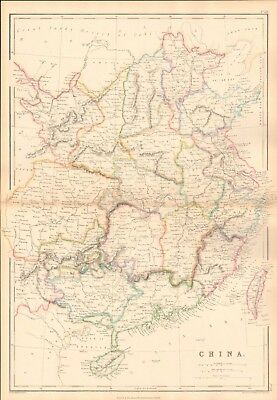 1859  Large Antique Map - Weller - China