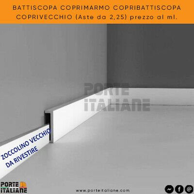 BATTISCOPA COPRIMARMO COPRIBATTISCOPA COPRIVECCHIO 90X35 (asta 2250mm)