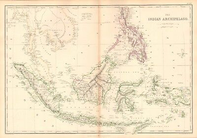 1859  Large Antique Map - Weller - The Indian Archipelago