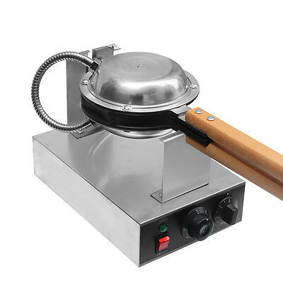 1.3Kw Electric Egg Cake Oven Iron Nonstick Waffle Bread Baker Maker Machine