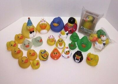 Lot of (28) Rubber Duck Ducky Duckies Bundle Collectible Bath Toys FREE S&H S3/7