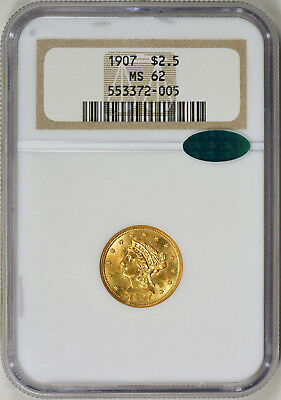2007 $2.50 Liberty Gold - Coronet Type - NGC MS-62 CAC - Quarter Eagle - Nice