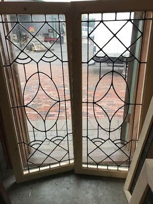 SG 1672 2 available price separate Leaded glass window 20.75 x 48.5
