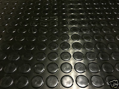 3 meters Coin Black Anti Slip Van Garage Workshop Rubber Flooring Matting