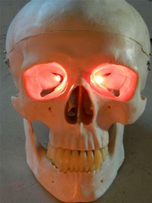 Halloween Prop Red Led Fire Flicker Effect Eyes For Mask Or Skull