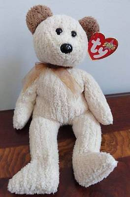 TY BEANIE BABIES BABY HUGGY the LIGHT BROWN BLONDE BEAR DOB 8-20-2000 MWMT