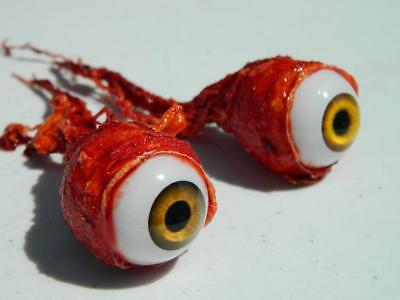 Halloween Horror Prop Realistic Life Size Pair of  Ripped Out Eyeballs -  FE01