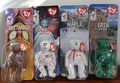1999 Complete Set Mcdonalds Ty Beanie Babies  Bear Erin Brittania Maple Glory