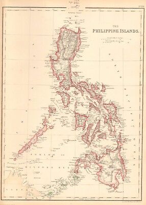 1859 Antique Map - Weller - The Philippine Islands