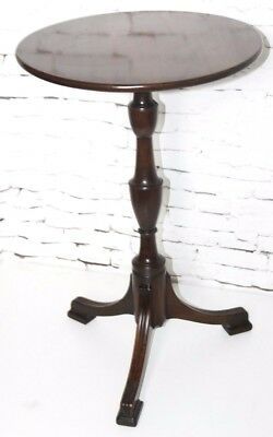 Antique 18C Georgian Mahogany Tripod Side Table - FREE Shipping [PL4079]