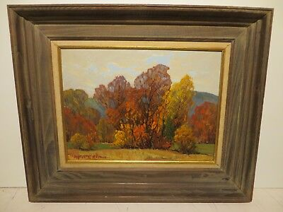 "12x16 org. 1984 oil painting: Dwight C. Holmes ""Shades of Autumn"" Tx. Landscape"