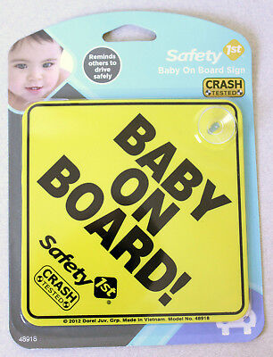 Safety 1st Foam Baby On Board and Mom-To-Be Sign Board - NEW