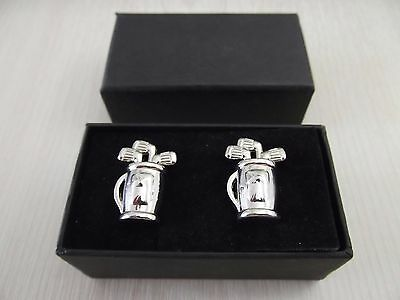 CL149 Golf Bag Cufflinks - boxed by Havey Makin