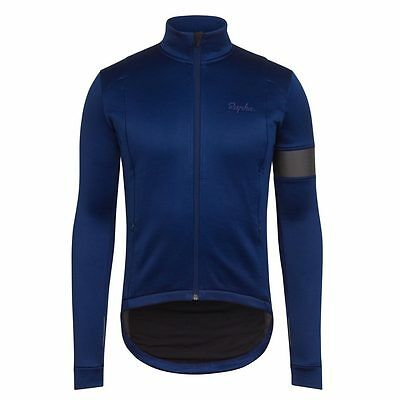 Rapha Blue Winter Jersey with Grey Armband. Size XS. BNWT.