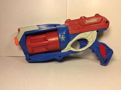 Avengers Red White And Blue Gun Blaster * Works Great