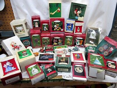 Hallmark Keepsake Ornaments Lot of 33 - Mostly 1990's & BOXED