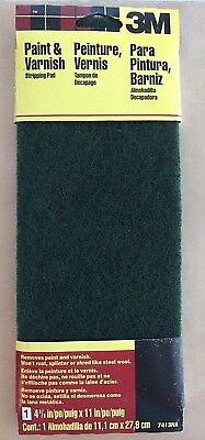 """3M Paint & Varnish Stripping Pad, #7413Na, 4-3/8"""" X 11"""", One Pad New In Package"""