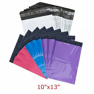 "100 10""x13"" Poly Mailers Shipping Envelopes Self Sealing Plastic Mailing Bags"