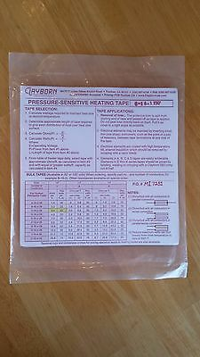 "New Clayborn Lab 50' Pressure-Sensitive Adhesive 1/6"" Heating Tape (23 Watt/ft)"