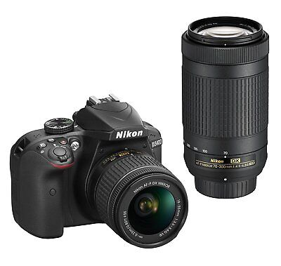 Nikon D3400 DSLR Camera 24.2MP With 18-55mm and 70-300mm Lenses - NEW ™