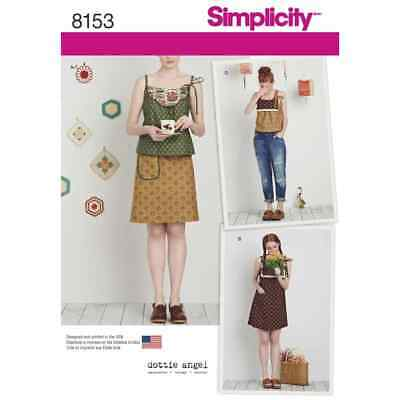 Simplicity Sewing Pattern 8153 Dottie Angel Dress, Top and Skirt